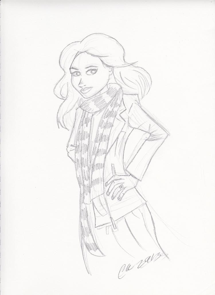 Warm-Up Sketch: Amy Pond