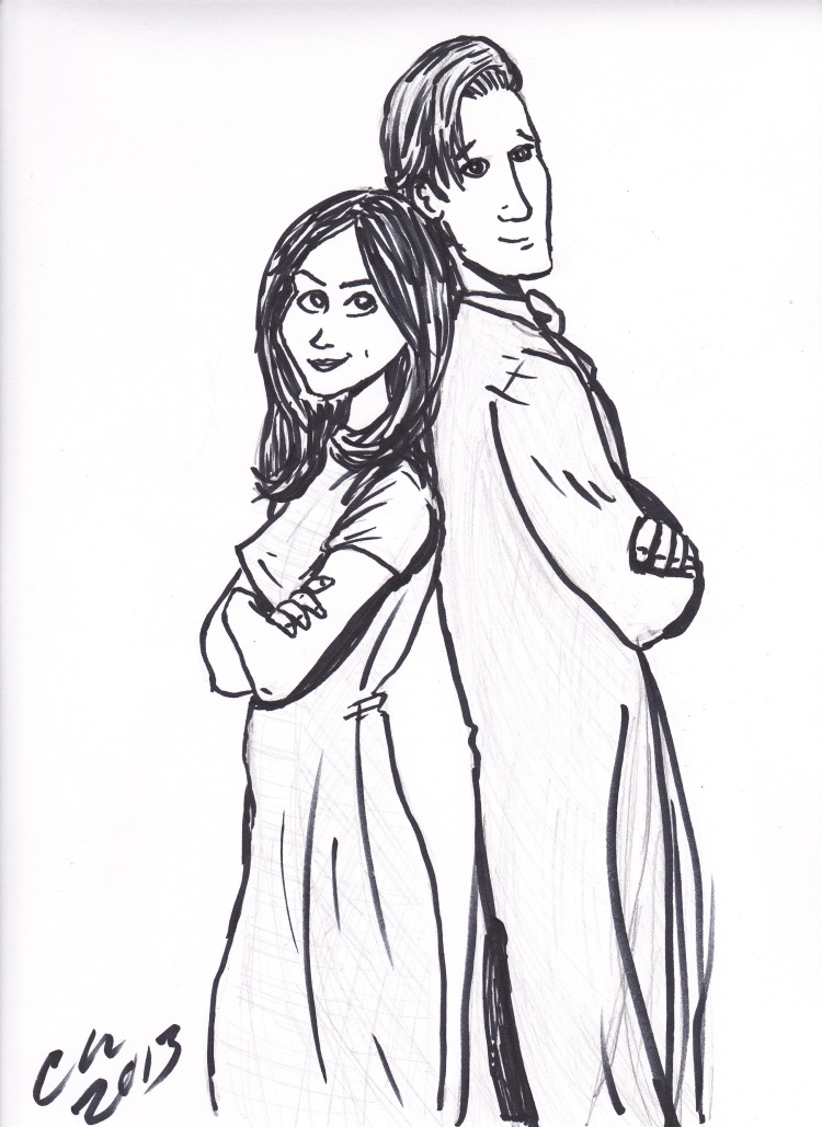 Finished inks: The Doctor & Clara