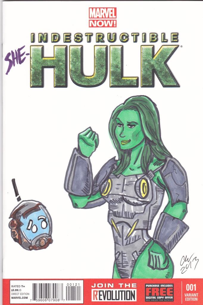 SheHulk sketchcover color