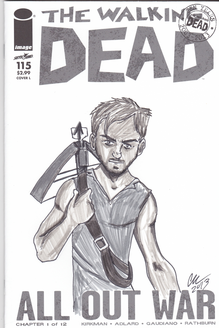 Walking Dead Daryl cover inked